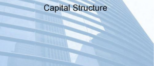 Capital Structure代写